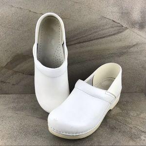 Dansko White Leather Clogs Size 40